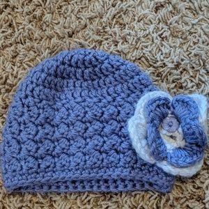 Newborn Purple Crochet Cap